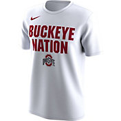 Nike Men's Ohio State Buckeyes 'Buckeye Nation' Bench Legend White T-Shirt