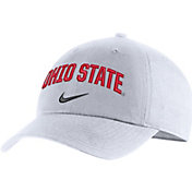 Nike Men's Ohio State Buckeyes Heritage86 Arch Wordmark White Hat