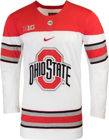 Nike Men s Ohio State Buckeyes Replica Hockey White Jersey. noImageFound 3a5fc4d98
