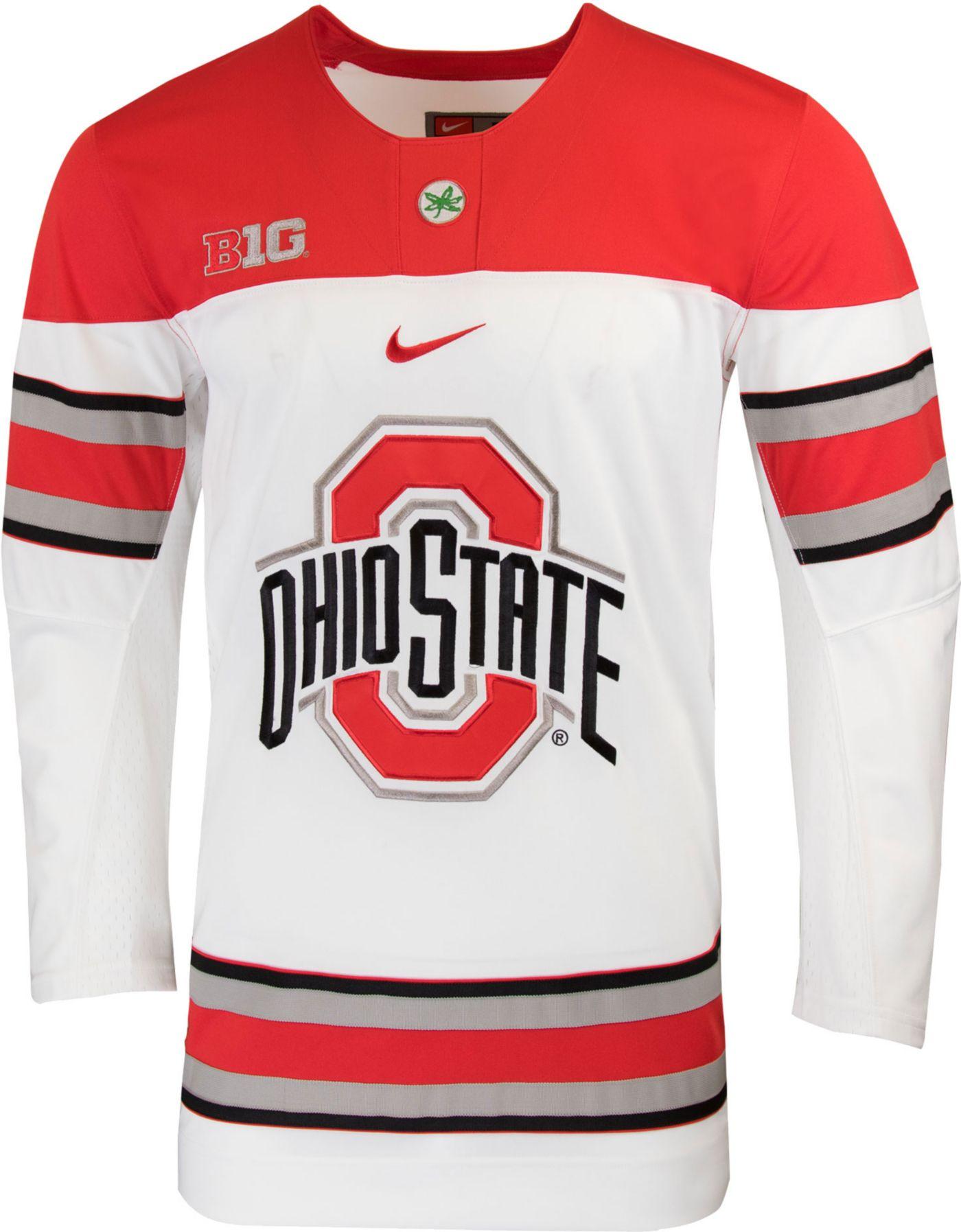 Nike Men's Ohio State Buckeyes Replica Hockey White Jersey