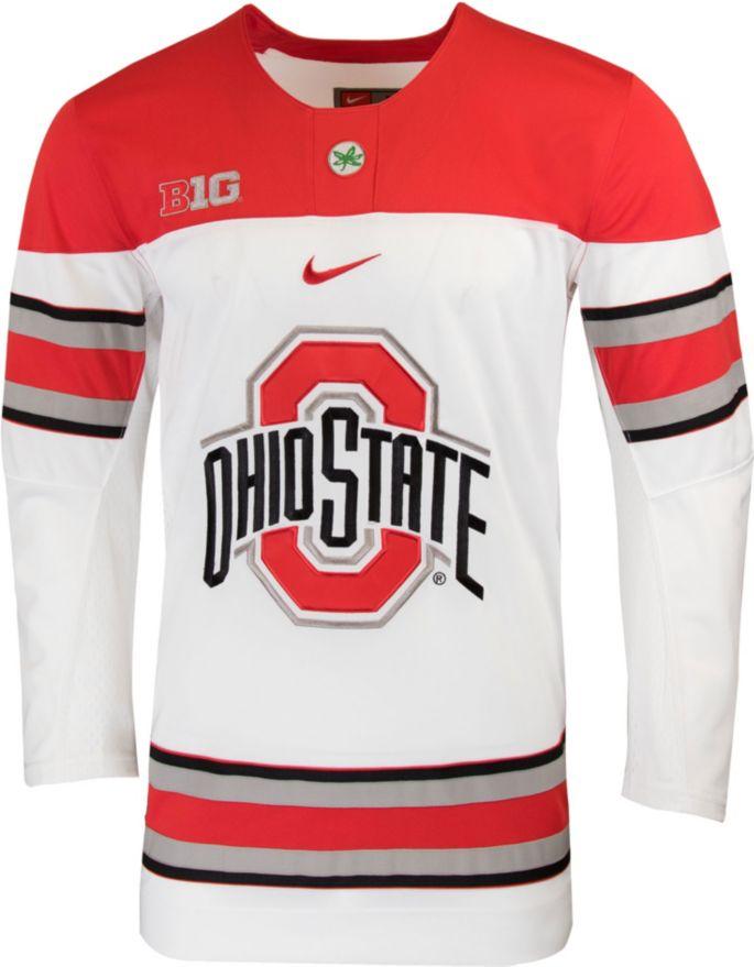 Nike Men S Ohio State Buckeyes Replica Hockey White Jersey