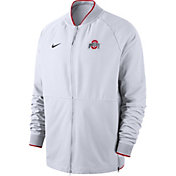 Nike Men's Ohio State Buckeyes Therma Hybrid Full-Zip White Jacket