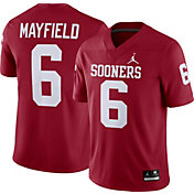 Jordan Men's Baker Mayfield Oklahoma Sooners #6 Crimson Dri-FIT Game Football Jersey