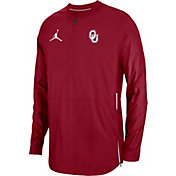 Jordan Men's Oklahoma Sooners Crimson Lockdown Football Quarter-Zip Jacket