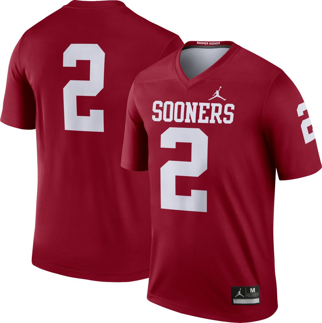 brand new fc36f 7e54f Jordan Men's Oklahoma Sooners #2 Crimson Dri-FIT Legend Football Jersey