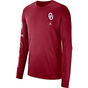 Jordan Men's Oklahoma Sooners Crimson Dri-FIT Elevated Basketball Long Sleeve Shirt
