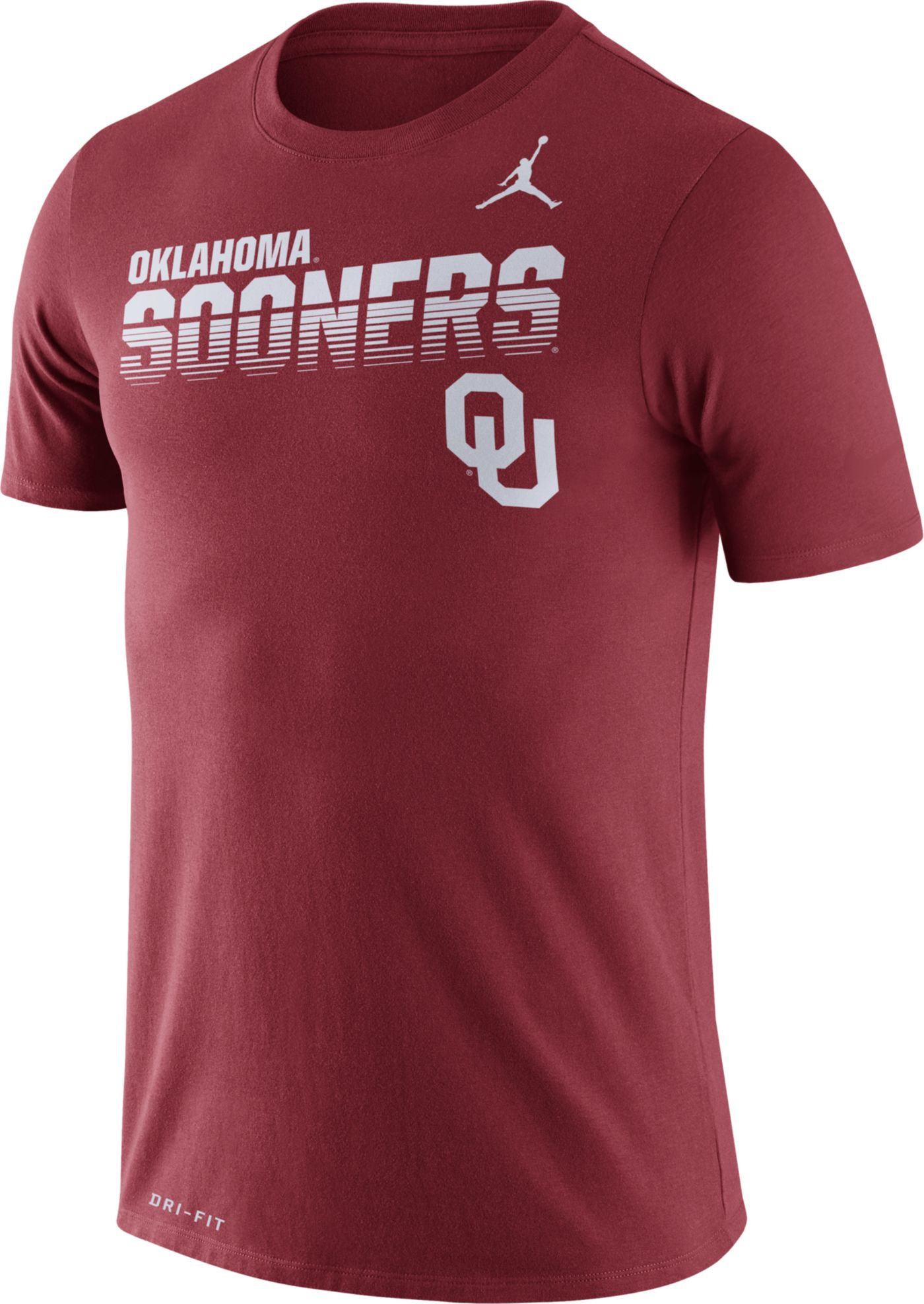 Jordan Men's Oklahoma Sooners Crimson Legend Football Sideline T-Shirt