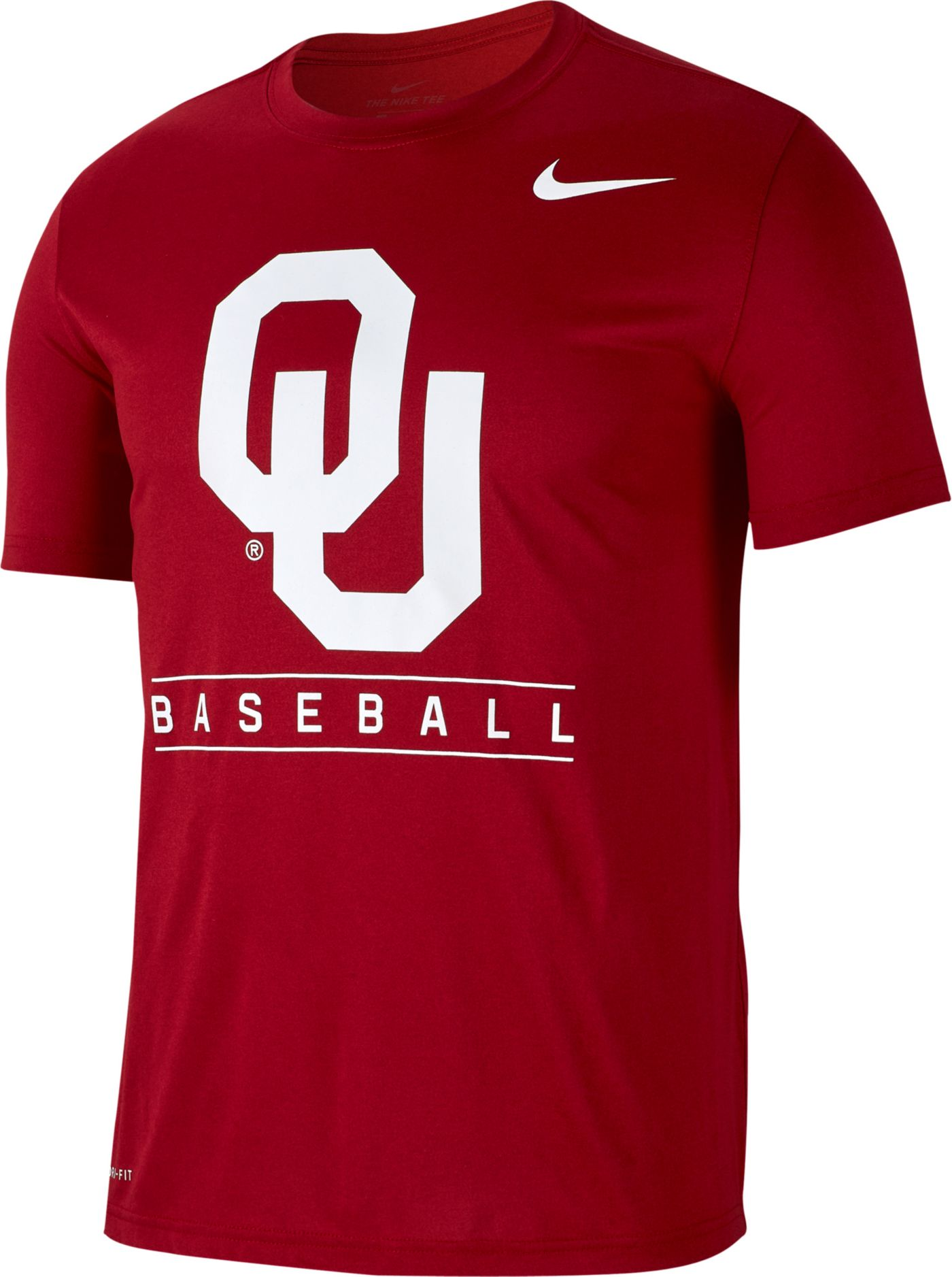 Nike Men's Oklahoma Sooners Crimson Dri-FIT Legend Baseball T-Shirt