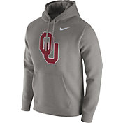 Nike Men's Oklahoma Sooners Grey Club Fleece Hoodie
