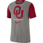 Nike Men's Oklahoma Sooners Grey Dri-FIT Baseball Slub T-Shirt