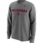 Nike Men's Oklahoma Sooners Grey Lockup Long Sleeve Shirt