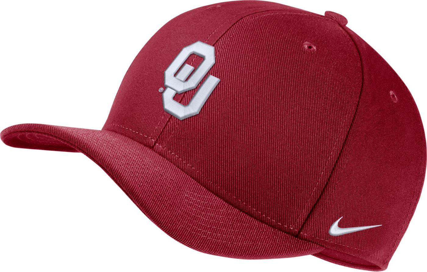 Nike Men's Oklahoma Sooners Crimson Classic99 Swoosh Flex Hat