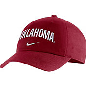 Nike Men's Oklahoma Sooners Crimson Heritage86 Arch Wordmark Hat