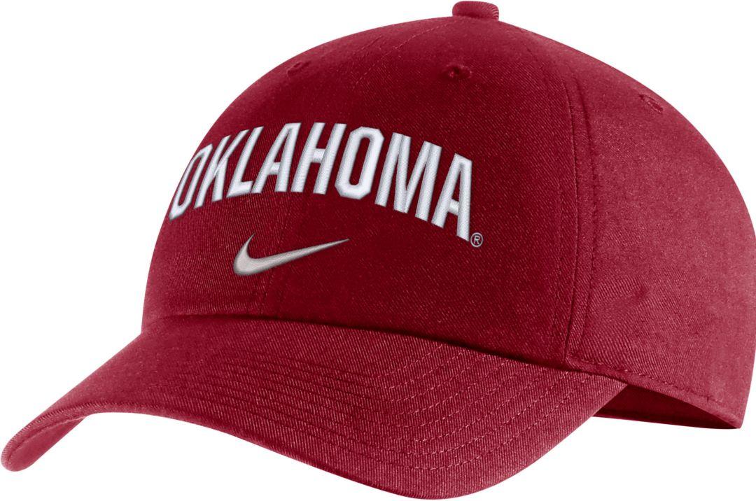 the latest 42fd7 9eb10 Nike Men s Oklahoma Sooners Crimson Heritage86 Arch Wordmark Hat 1
