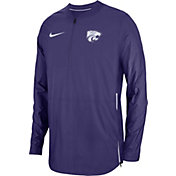 Nike Men's Kansas State Wildcats Purple Lockdown Football Quarter-Zip Jacket