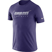 Nike Men's Kansas State Wildcats Purple Football Dri-FIT Cotton Facility T-Shirt