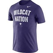 Nike Men's Kansas State Wildcats Purple Dri-FIT Phrase T-Shirt