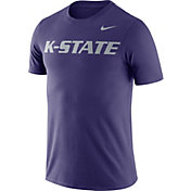 Nike Men's Kansas State Wildcats Purple Dri-FIT Cotton Word T-Shirt