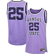 Nike Men's Kansas State Wildcats #25 Lavender Retro Replica Basketball Jersey