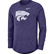 Nike Men's Kansas State Wildcats Purple Marled Raglan Long Sleeve T-Shirt