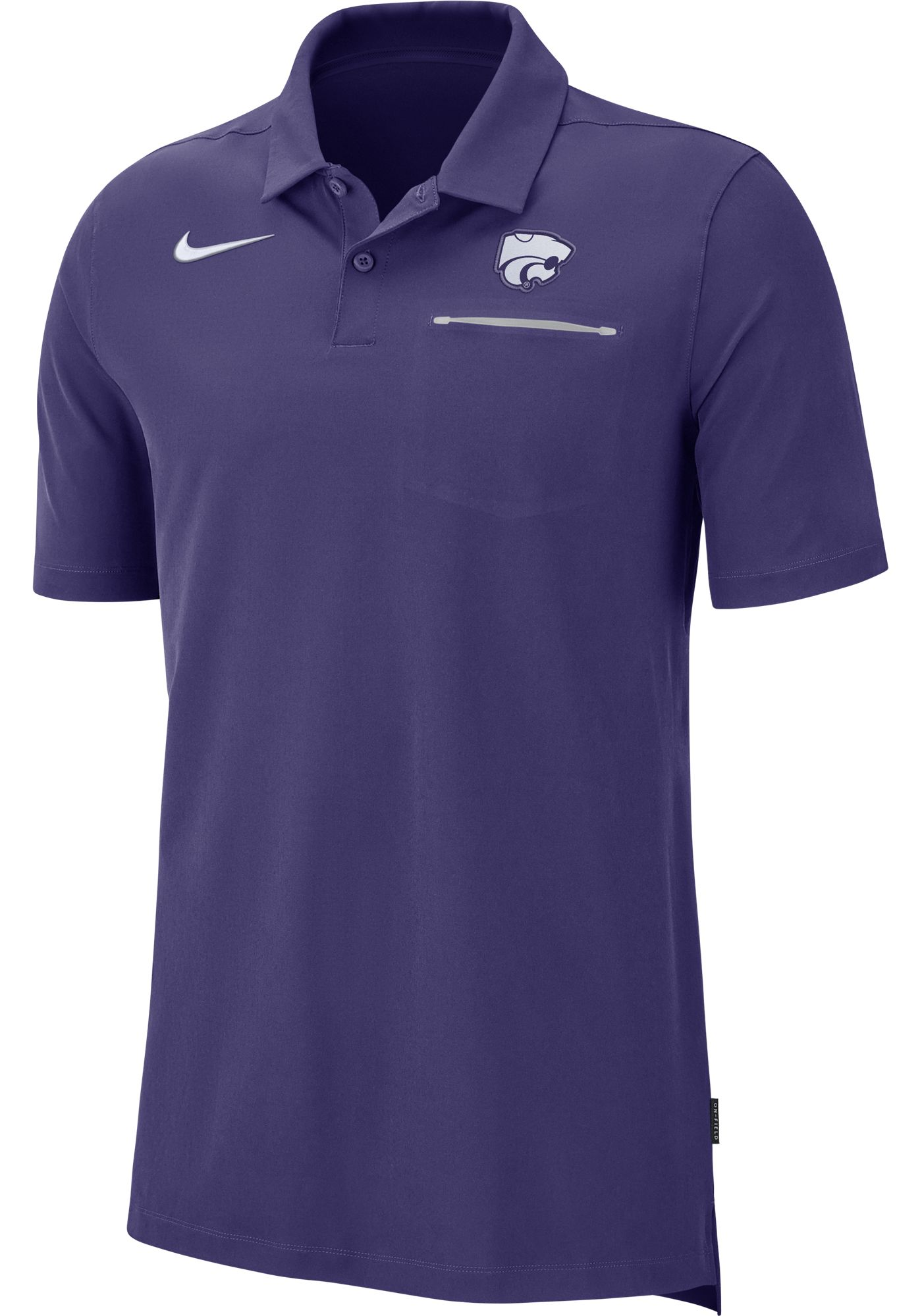 Nike Men's Kansas State Wildcats Purple Dri-FIT Elite Football Sideline Polo