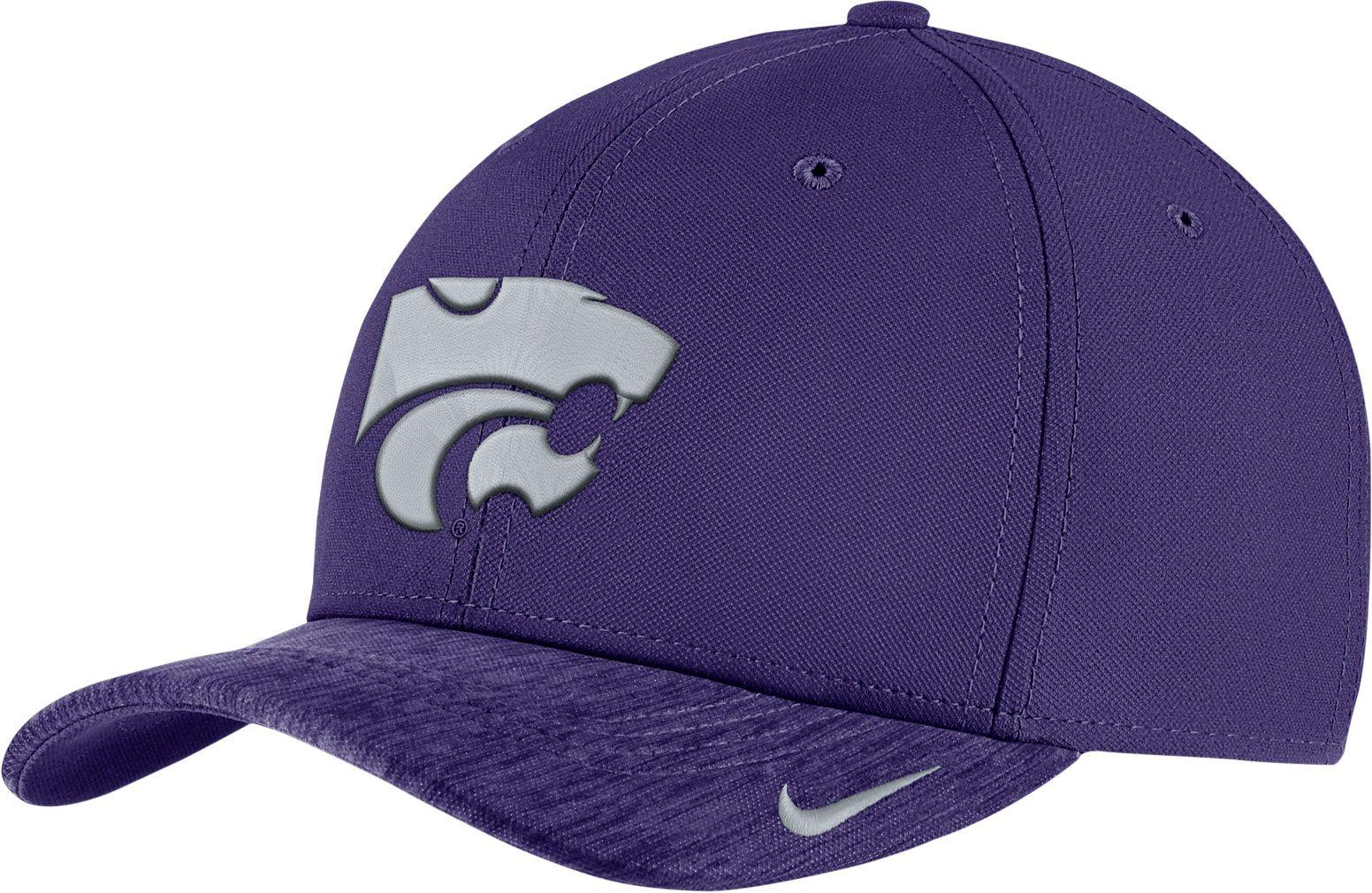 aa958ec313e ... usa nike mens kansas state wildcats purple aerobill swoosh flex  classic99 football sideline hat 2bb8b a6008
