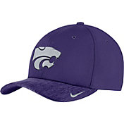 Nike Men's Kansas State Wildcats Purple Aerobill Swoosh Flex Classic99 Football Sideline Hat