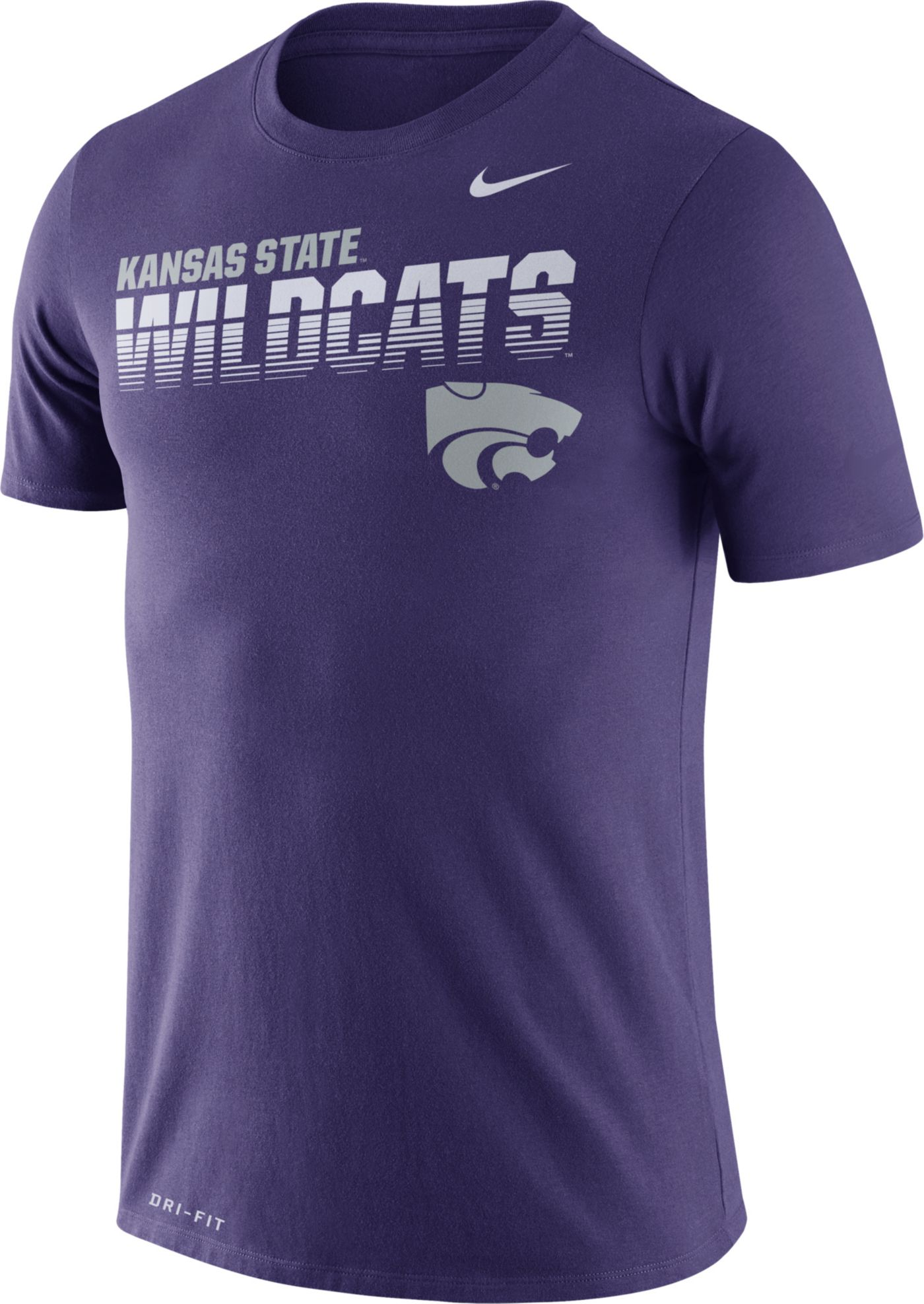 Nike Men's Kansas State Wildcats Purple Legend Football Sideline T-Shirt