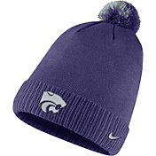 Nike Men's Kansas State Wildcats Purple Football Sideline Pom Beanie