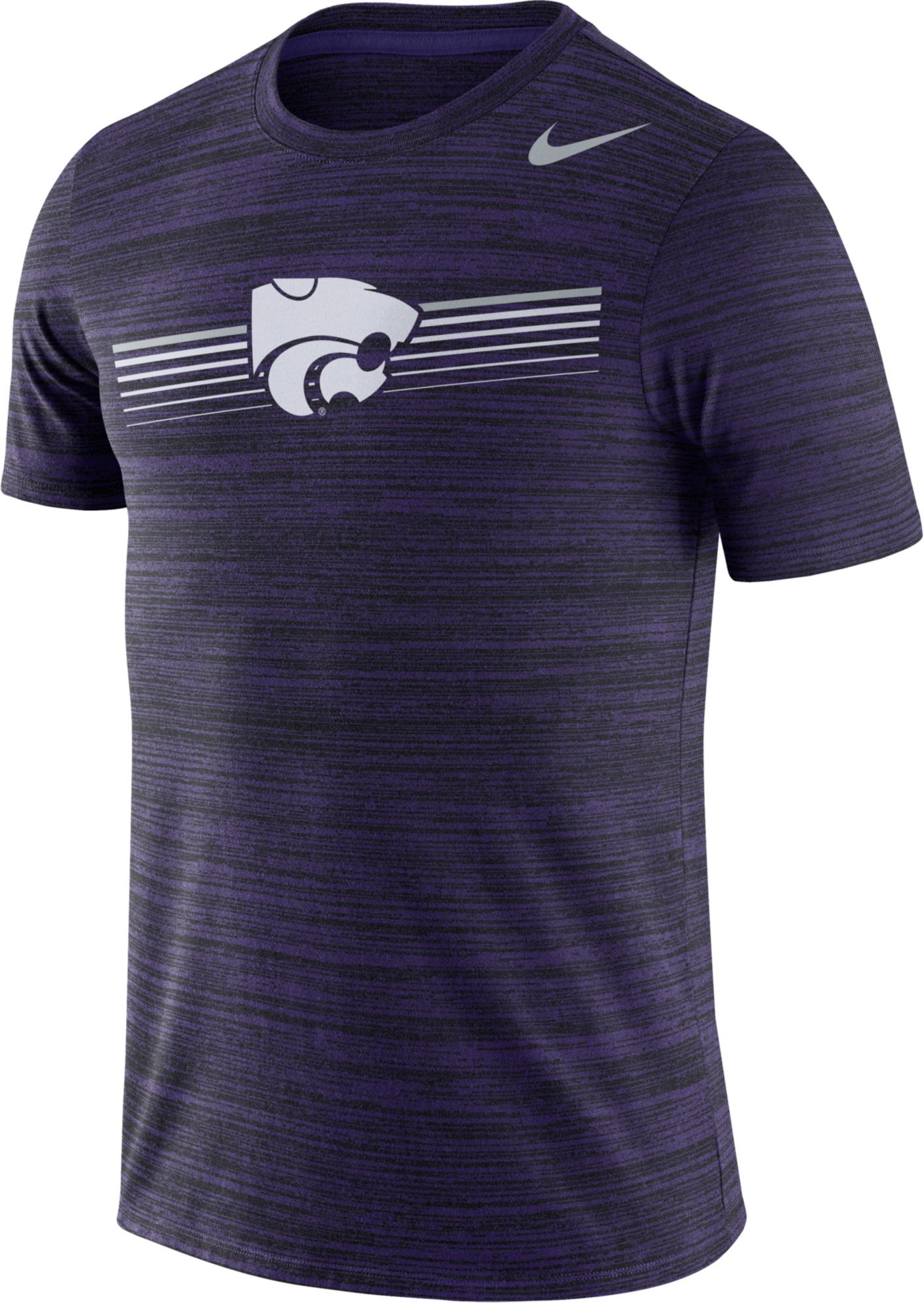 Nike Men's Kansas State Wildcats Purple Velocity Legend Graphic T-Shirt