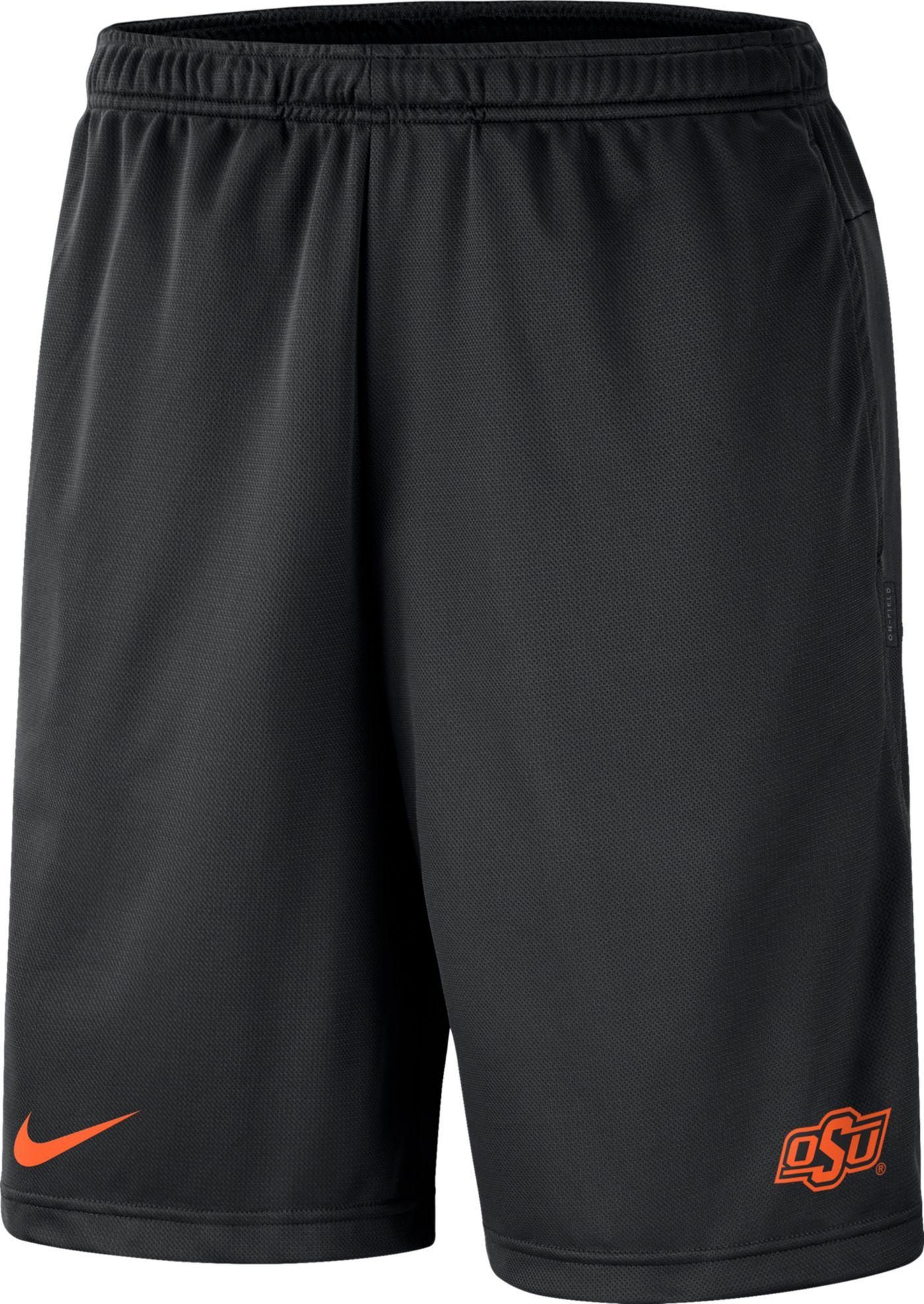 Nike Men's Oklahoma State Cowboys Dri-FIT Coach Black Shorts