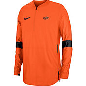 Nike Men's Oklahoma State Cowboys Lockdown Half-Zip Football Black Jacket