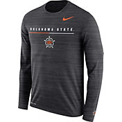 Nike Men's Oklahoma State Cowboys Velocity Legend Graphic Long Sleeve Black T-Shirt