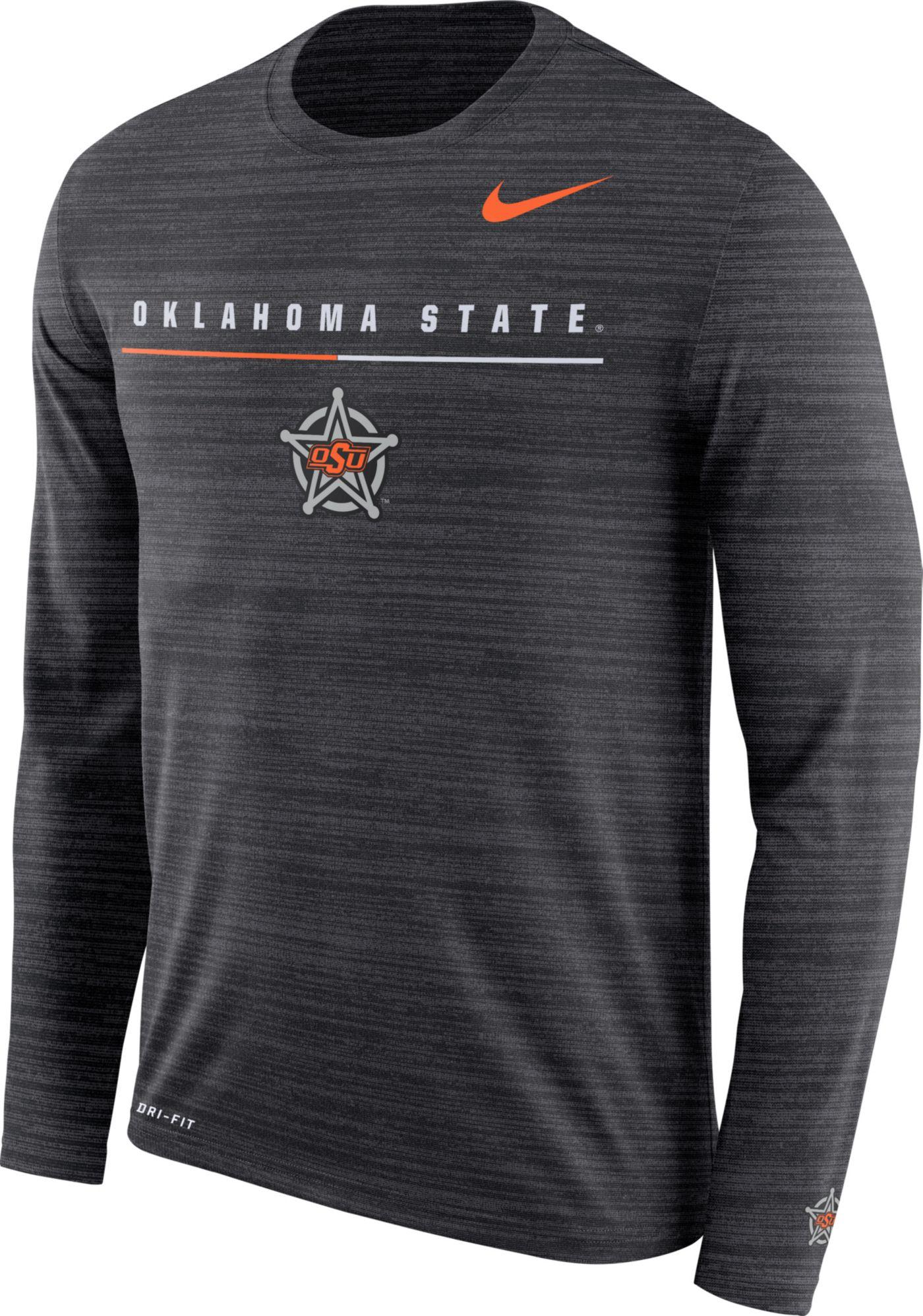 Nike Men's Oklahoma State Cowboys Velocity Legend Graphic Long Sleeve Black T-Shirt