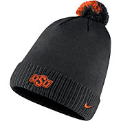 Nike Men's Oklahoma State Cowboys Football Sideline Pom Black Beanie