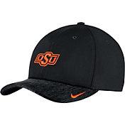 Nike Men's Oklahoma State Cowboys Black Aerobill Swoosh Flex Classic99 Football Sideline Hat