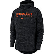 Nike Men's Oklahoma State Cowboys Black Heathered Dri-FIT Spotlight Pullover Hoodie