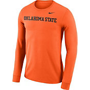 Nike Men's Oklahoma State Cowboys Orange Wordmark Long Sleeve Shirt