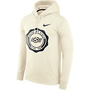 Nike Men's Oklahoma State Cowboys Therma-FIT Rival White Pullover Hoodie