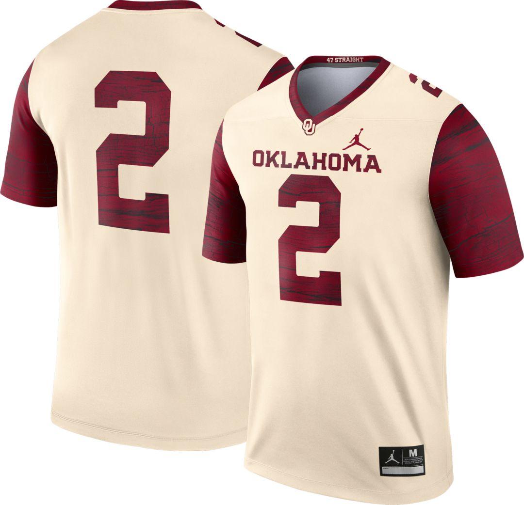 Jordan Men S Oklahoma Sooners 2 Cream Dri Fit Legend Football Jersey