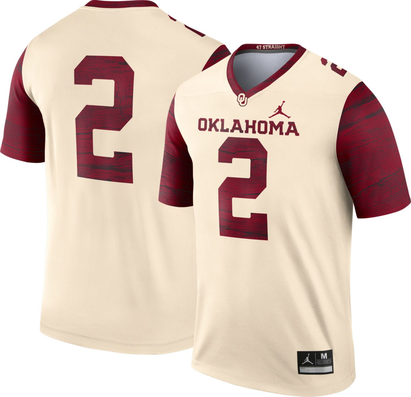Jordan Men's Oklahoma Sooners #2 Cream Dri-FIT Legend Football Jersey