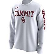 Nike Men's Oklahoma Sooners 'Commit' Bench Legend Long Sleeve White T-Shirt