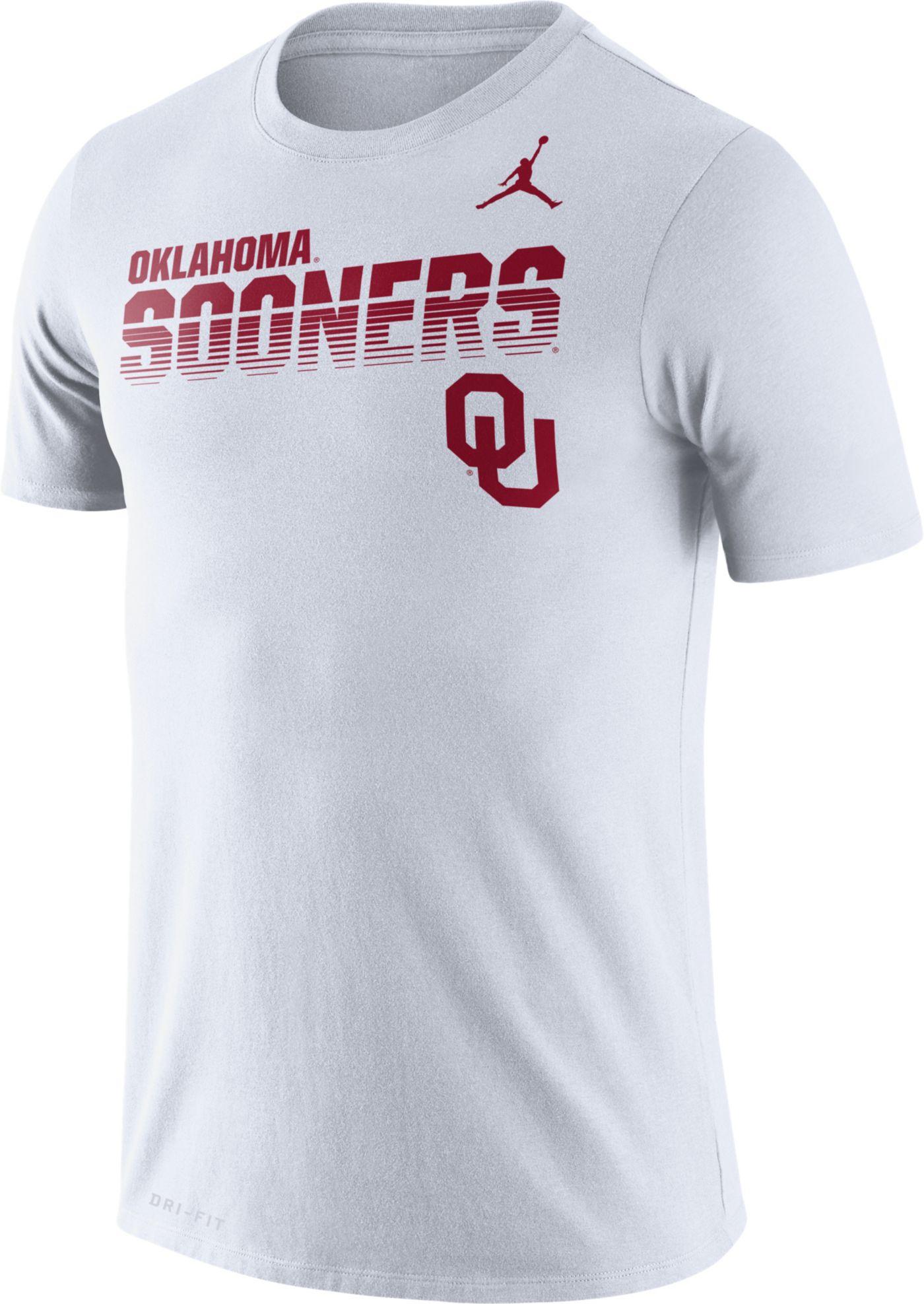 Jordan Men's Oklahoma Sooners Legend Football Sideline White T-Shirt