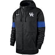 Nike Men's Kentucky Wildcats Therma Football Sideline Full-Zip Black Hoodie