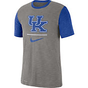 Nike Men's Kentucky Wildcats Grey Dri-FIT Baseball Slub T-Shirt