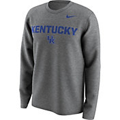 Nike Men's Kentucky Wildcats Grey Lockup Long Sleeve Shirt
