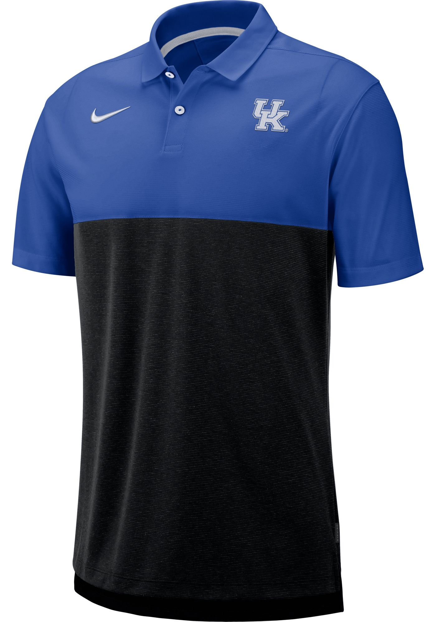 Nike Men's Kentucky Wildcats Blue/Black Dri-FIT Breathe Football Sideline Polo