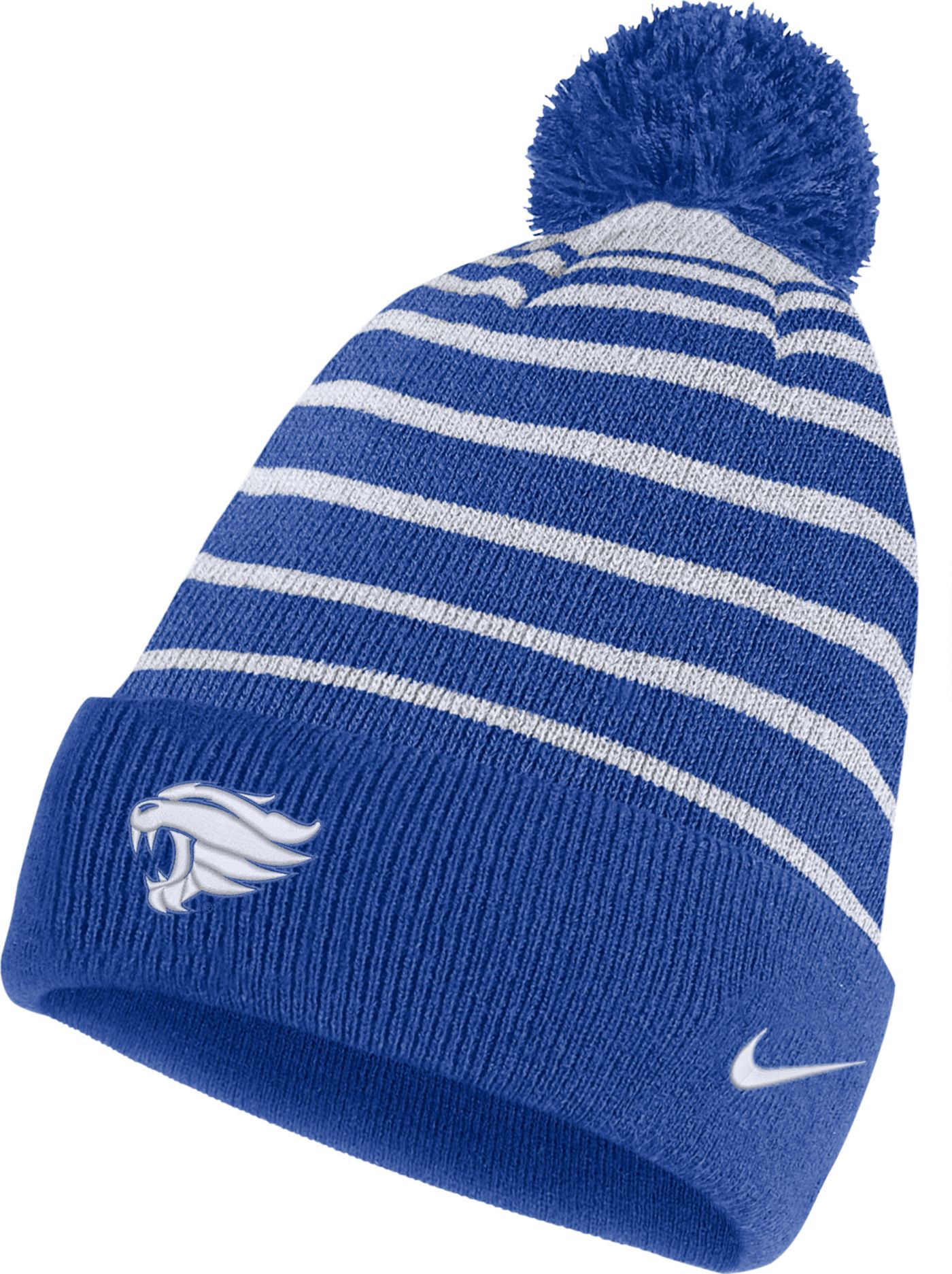 Nike Men's Kentucky Wildcats Blue Football Sideline Cuffed Pom Beanie