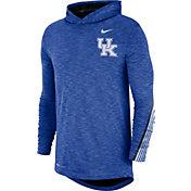 Nike Men's Kentucky Wildcats Blue Cotton Long Sleeve Hoodie T-Shirt