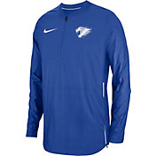 Nike Men's Kentucky Wildcats Blue Lockdown Football Quarter-Zip Jacket